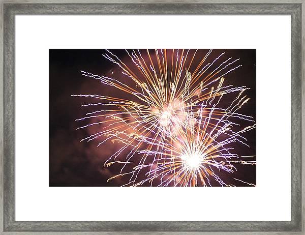 Fireworks In The Park 3 Framed Print