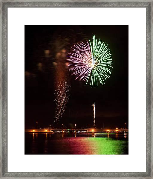 Fireworks Over Grand Lagoon Framed Print