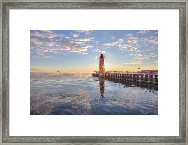 First Cold Sunrise Framed Print