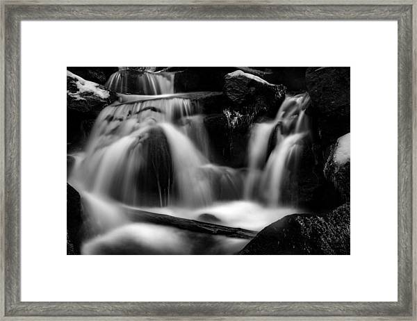 first crystals on the Bodefall, Harz Framed Print