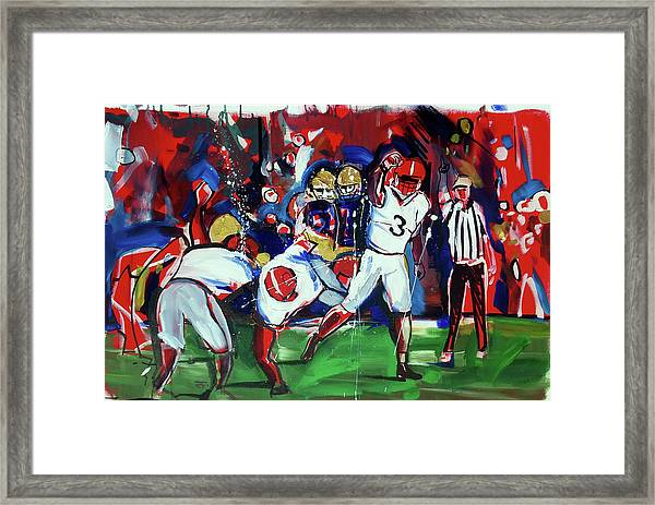 First Down Framed Print