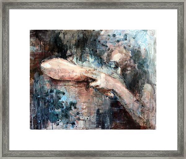 First Embrace Framed Print
