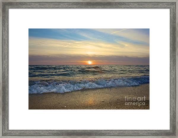 First Encounter Beach Framed Print