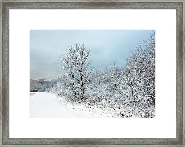 First Here  Framed Print