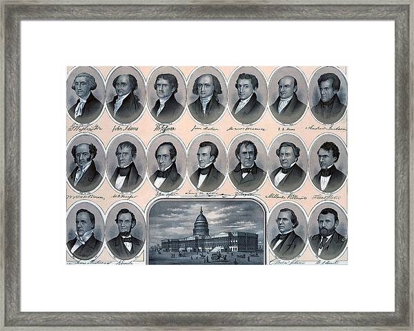 First Hundred Years Of American Presidents Framed Print