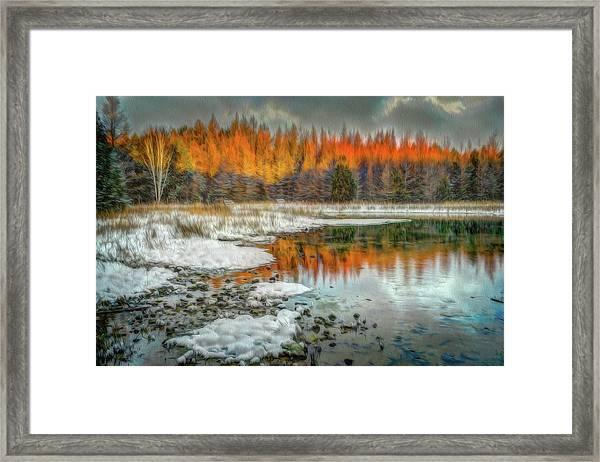 First Light At 3 Springs Framed Print