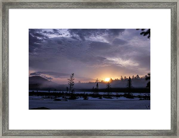 First Light At Wolf Pond Framed Print