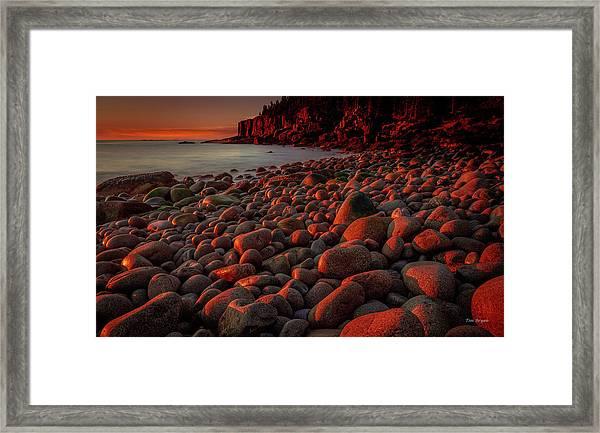 First Light On A Maine Coast Framed Print