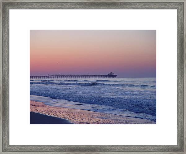 First Pier Framed Print