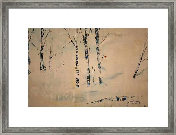 First Snow Central Park Framed Print