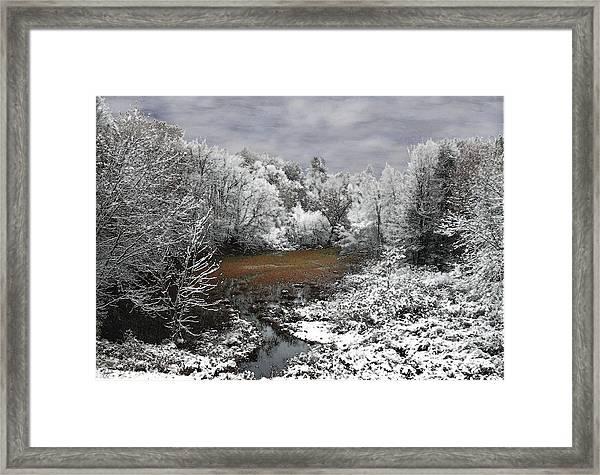 First Snow On An Oxbow Framed Print