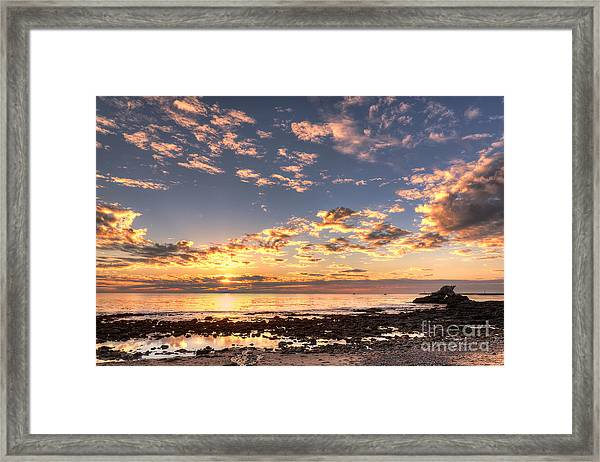 First Sunset Of 2013 Framed Print