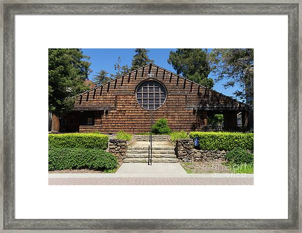 First Unitarian Church Now Bancroft Dance Studio At University Of California Berkeley Dsc6307 Framed Print