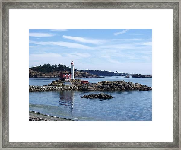 Fisgard Lighthouse Shoreline Framed Print