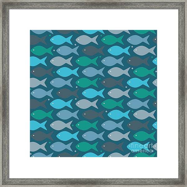 Fish Blue  Framed Print
