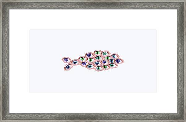 Fish Eye Framed Print