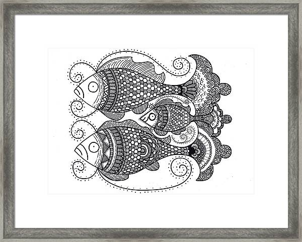 Fish Family Framed Print