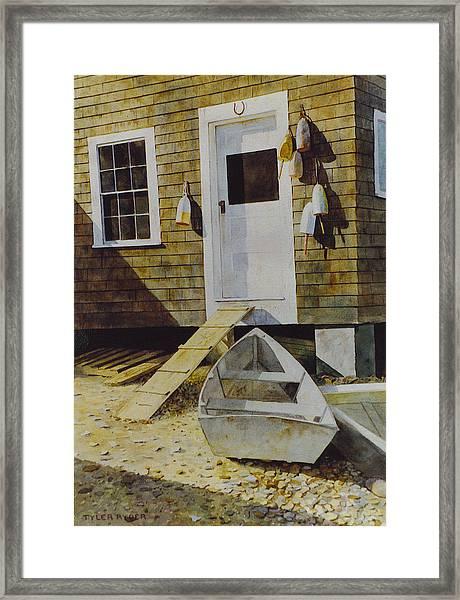 Fish House Monhegan Framed Print