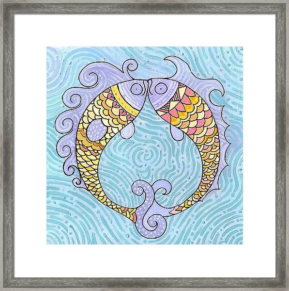 Fish Love Framed Print