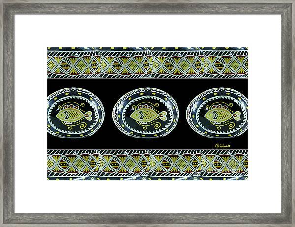 Fish Pysanky Black Framed Print