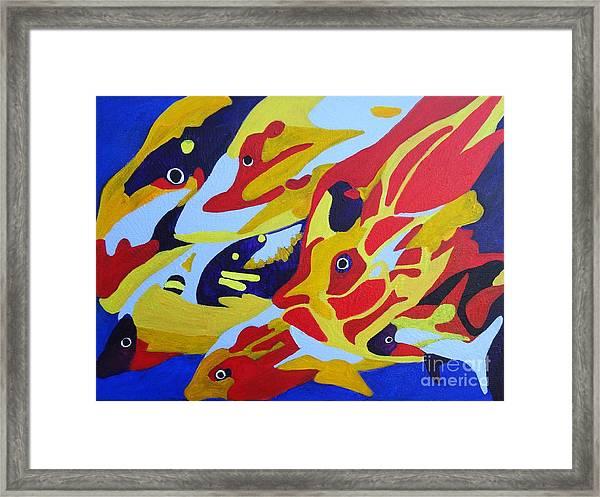 Fish Shoal Abstract 2 Framed Print