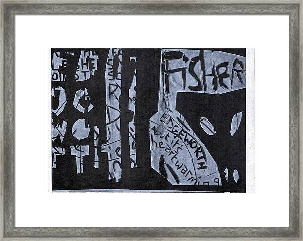 Fisher Covers White On Black Framed Print