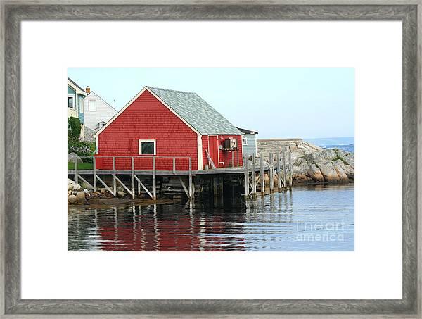 Fishermans House On Peggys Cove Framed Print