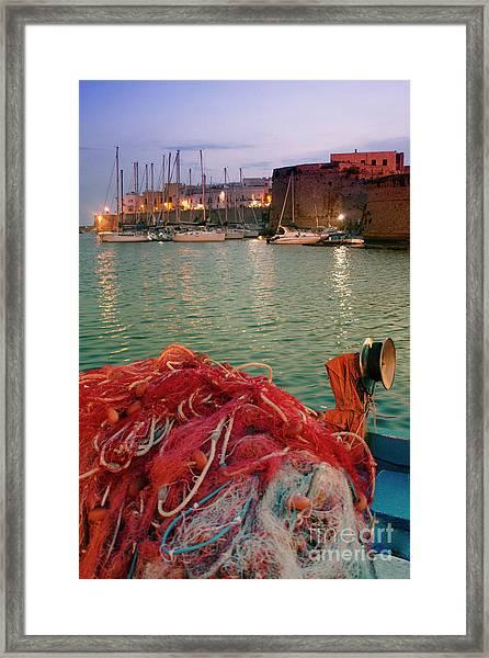 Fisherman's Net Framed Print