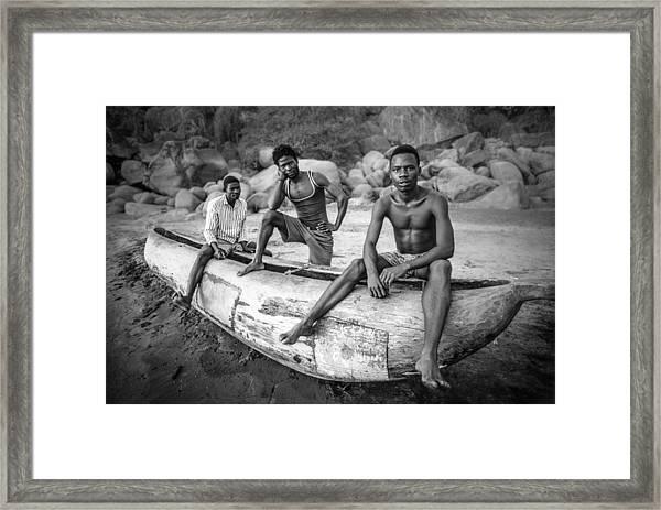 Fishermen Framed Print by Carlos German Romero