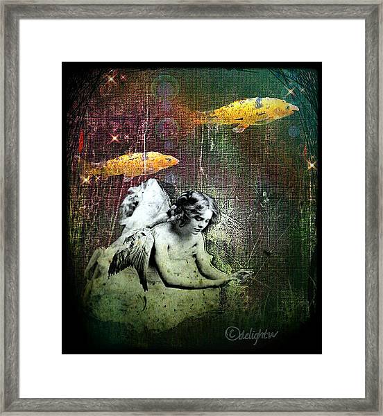 Fishes Wings Framed Print