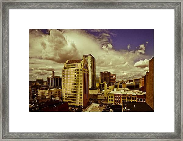 Fisheye Birmingham Framed Print