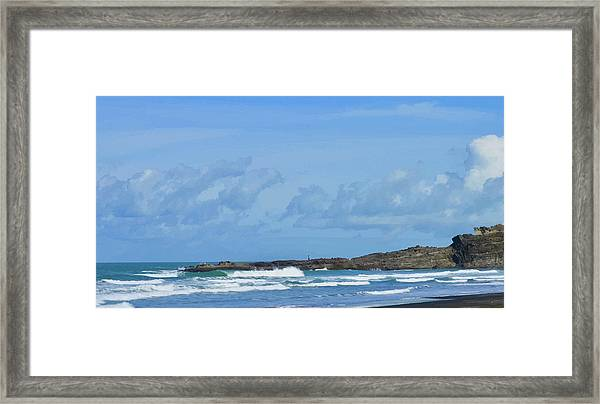Fishing At Kare Kare Framed Print