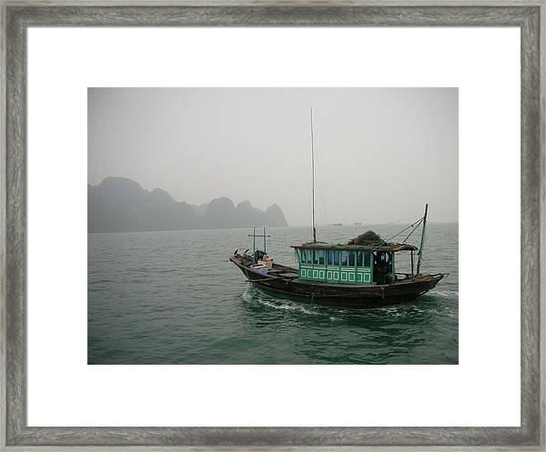 Fishing Boat In North Vietnam Framed Print