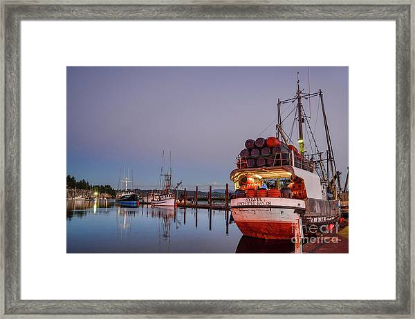 Fishing Boats Waking Up For The Day Framed Print