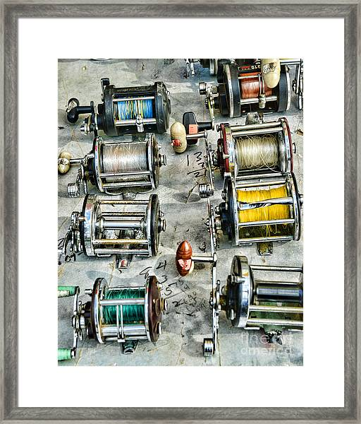 Fishing - Fishing Reels Framed Print