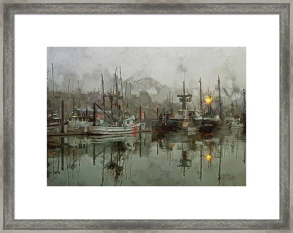 Fishing Fleet Dock Five Framed Print