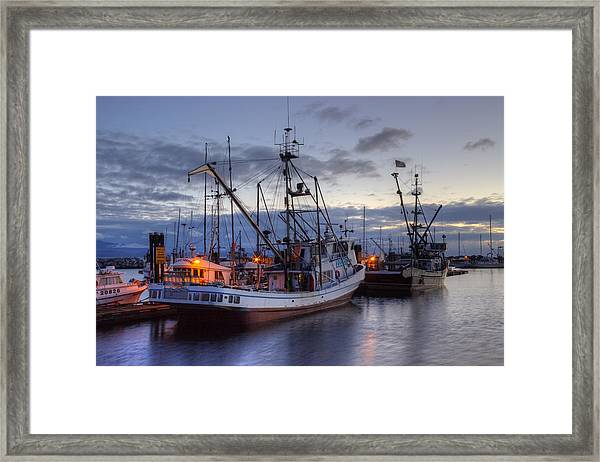 Framed Print featuring the photograph Fishing Fleet by Randy Hall