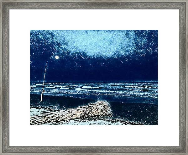 Fishing For The Moon Framed Print