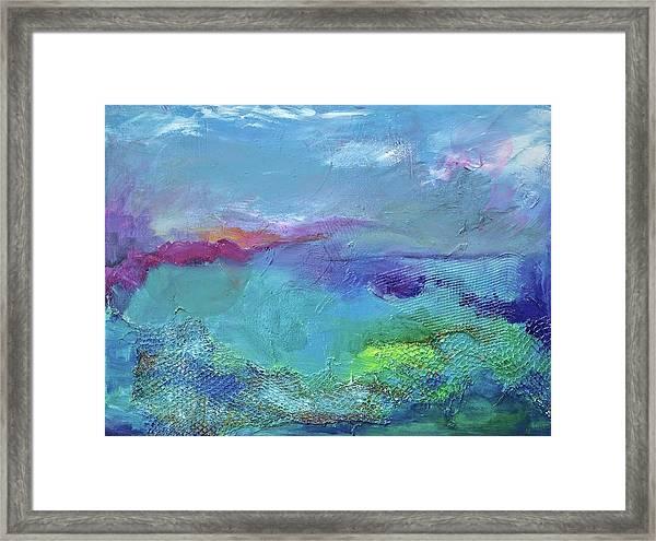 Fishing In Sorrento Framed Print