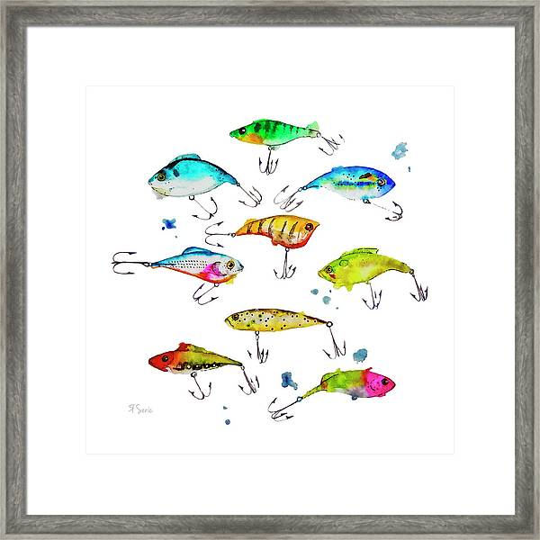 Fishing Is Fly No4 Framed Print