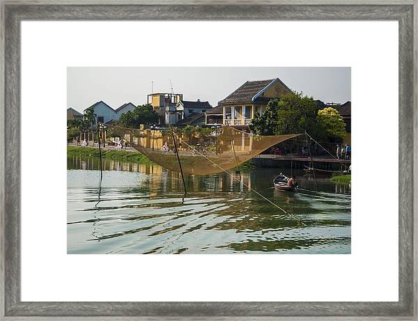 Fishing Net In Vietnam Framed Print