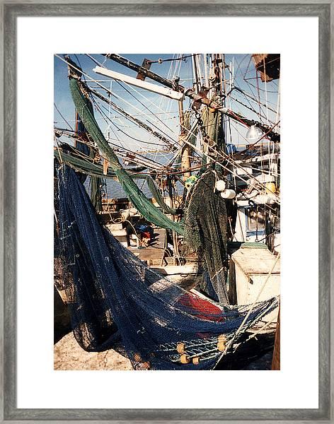 Fishing Nets Framed Print
