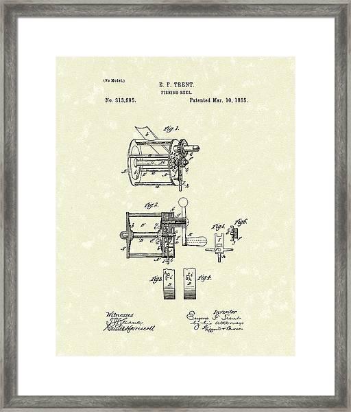 Fishing Reel 1885 Patent Art Framed Print