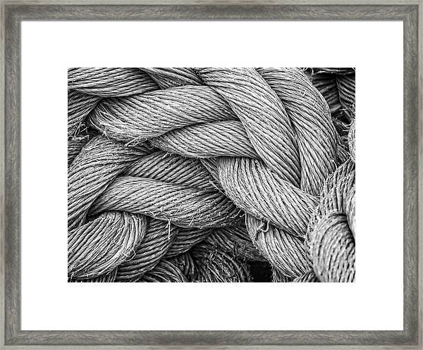 Fishing Rope Framed Print