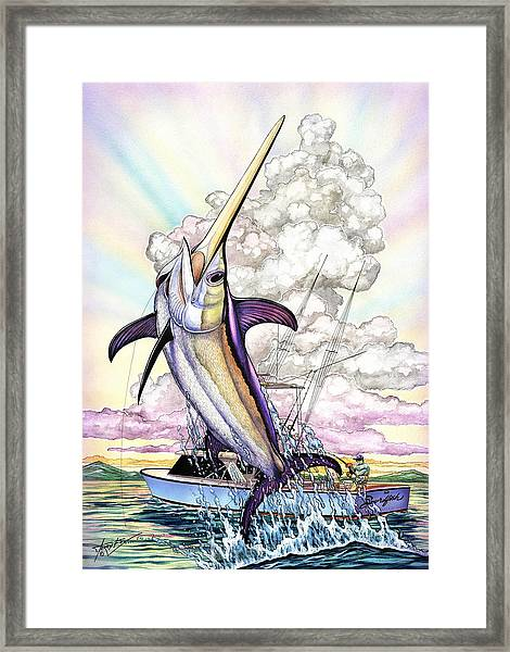 Fishing Swordfish Framed Print