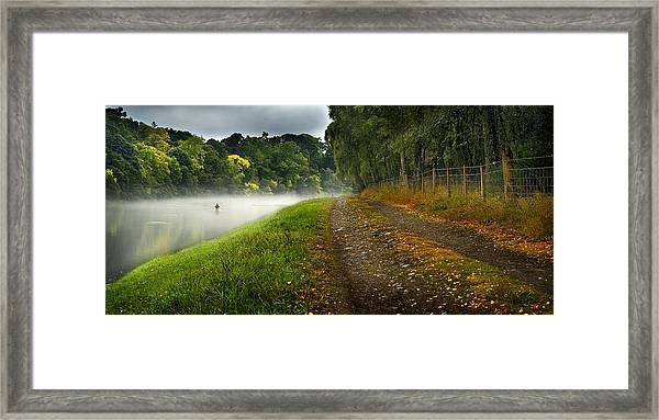 Fishing The River Beauly Framed Print