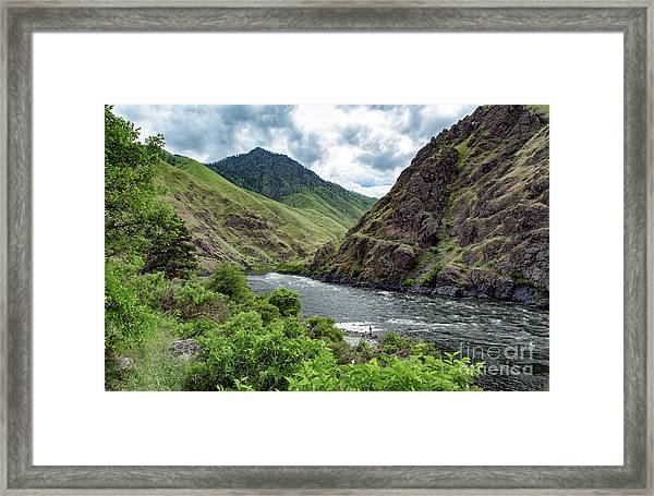Fishing The Snake Waterscape Art By Kaylyn Franks Framed Print