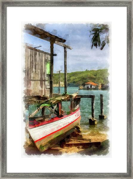 Fishing Village Framed Print