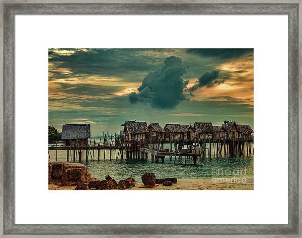 Fishing Village Framed Print