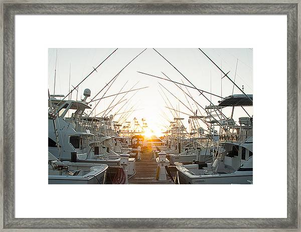 Fishing Yachts Framed Print